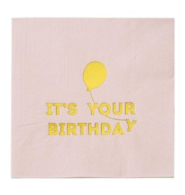 Talking Tables Talking Tables We Heart Birthdays Napkins Pink