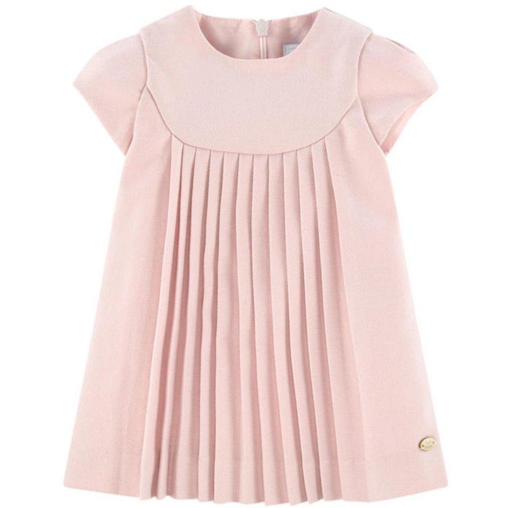 Tartine et Chocolat Tartine et Chocolat Pleated Pink Dress