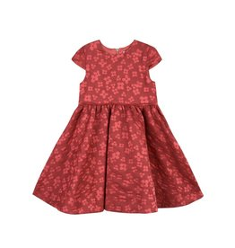 Tartine et Chocolat Tartine Brocade Flower Dress - Red
