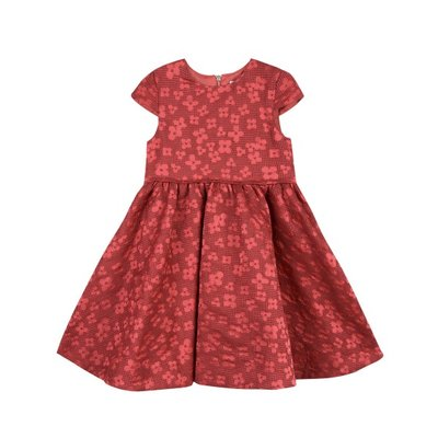 Tartine et Chocolat Tartine et Chocolat Brocade Flower Dress - Red