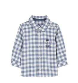 Tartine et Chocolat Tartine Long Sleeve Check Shirt - Blue