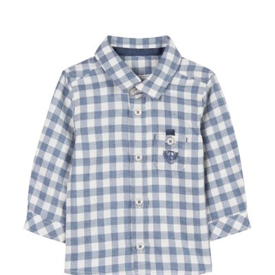 Tartine et Chocolat Tartine et Chocolat Long Sleeve Check Shirt - Blue