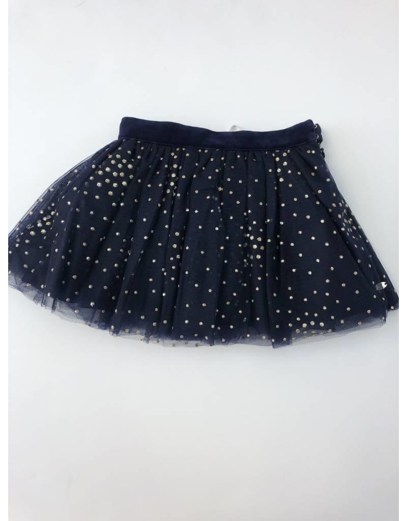 Tartine et Chocolat Tartine Skirt Navy Tulle sparkles W18 TM27072 6y
