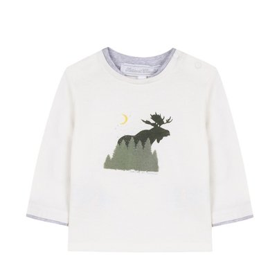 Tartine et Chocolat Tartine et Chocolat Long Sleeve Moose T-shirt 1A
