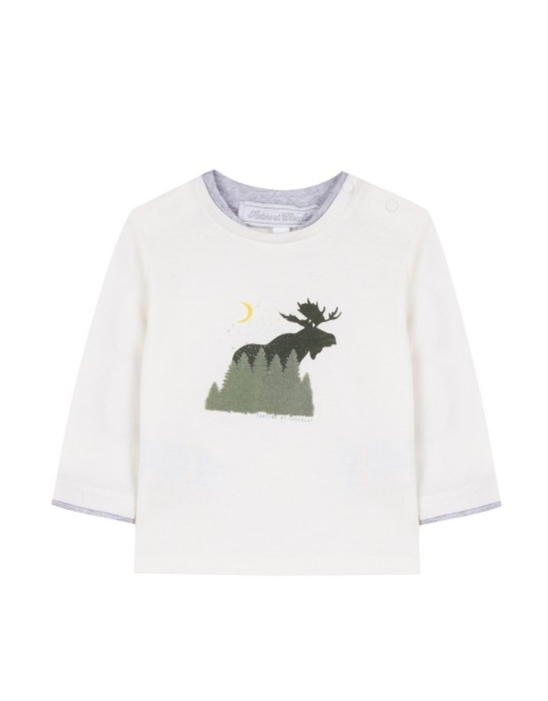 Tartine et Chocolat Tartine T-shirt LS Moose W18 TM10061 1y