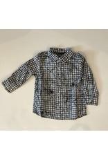 Jean Bourget JB Shirt Navy check LS W17 JK12044