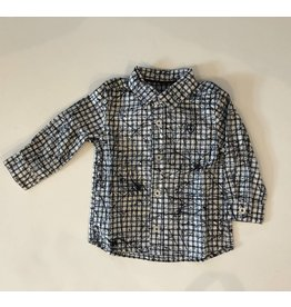 Jean Bourget JB Shirt Navy check LS W17 JK12044