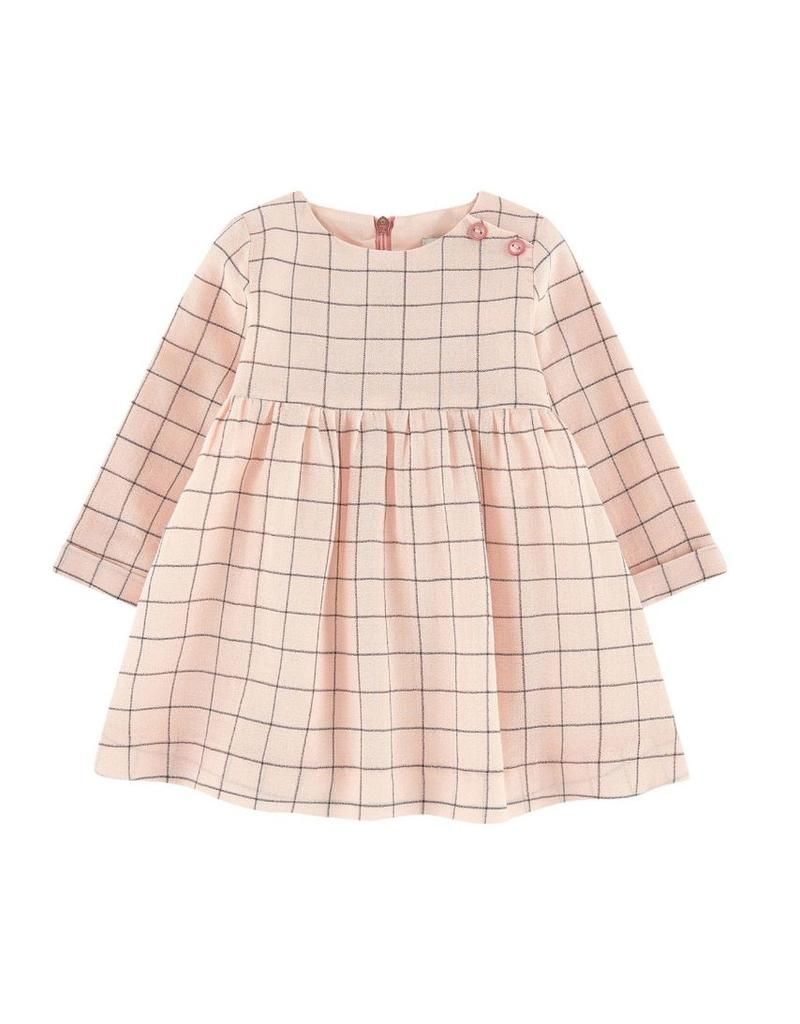 Jean Bourget JB Dress Pink Gray Check