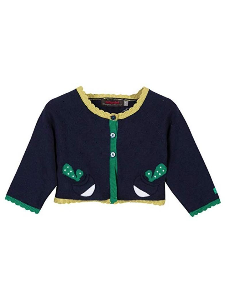 Catimini CAT Cardigan g navy w yellow CG18023 (18m)