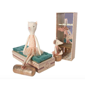 Maileg Maileg: Dancing Cat & Mouse in Shoebox
