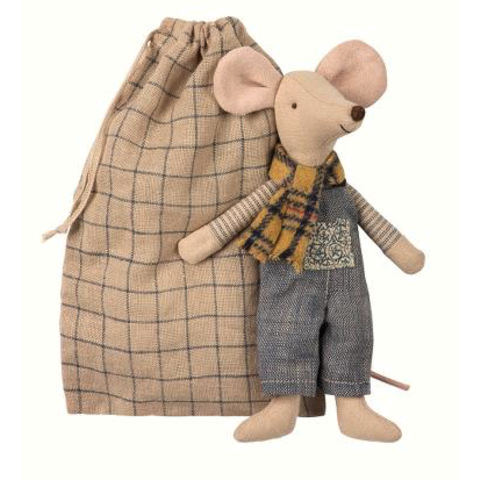 Maileg: Winter Mouse Father in Bag