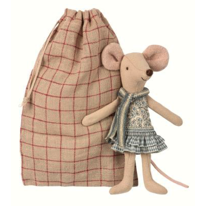 Maileg Maileg: Winter Mouse Sister in Bag
