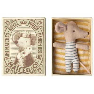 Maileg Maileg: Mouse Baby Sleepy/Wakey in Box Boy