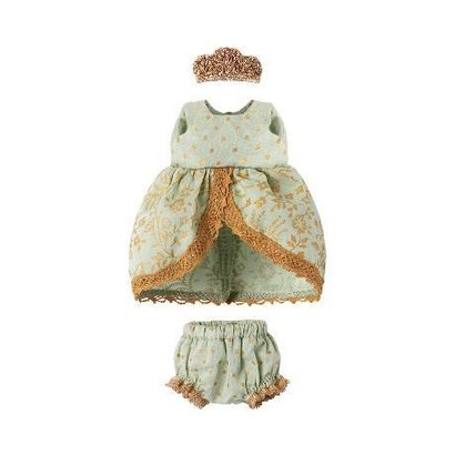 Maileg Maileg: Micro and Mouse Princess Dress, Mint