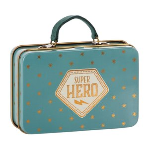 Maileg Maileg: Metal Suitcase- Blue w/ Stars
