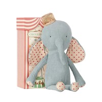 Maileg Maileg: Circus Elephant with Hat: Blue