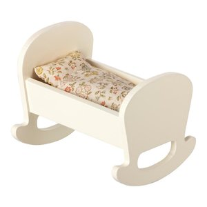 Maileg Maileg: Baby Mouse Cradle w/bedding