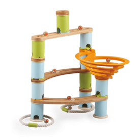 Fatbrain Fat Brain: Bambo Builder Marble Run- 78 Pc