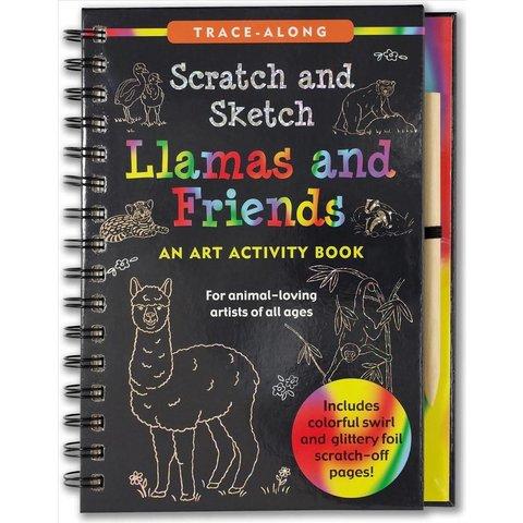 Peter Pauper: Scratch & Sketch Llamas and Friends