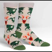 Sock it to ME Sock it to me: Men's Crew - Beware of Dragons