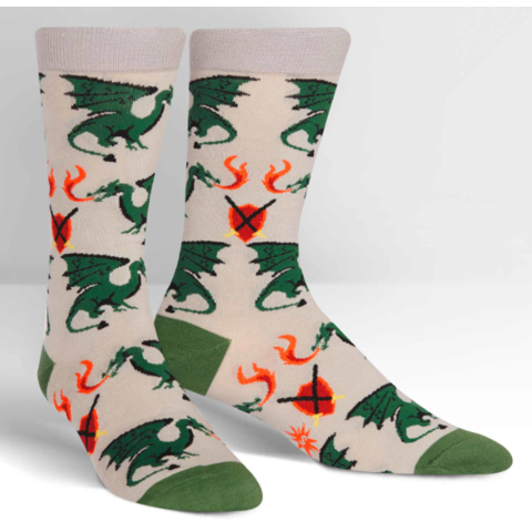 Sock it to me: Men's Crew - Beware of Dragons