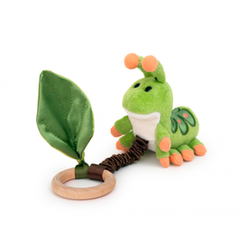 Apple Park Apple Park: Crawling Critter Teething Toy-Caterpillar