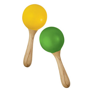 Green Tones Green Tones: Egg Shaker Handle Maracas