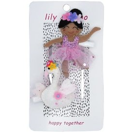 Lily and Momo Lily and Momo: Swan Ballerina Hair Clip Ballet Pink