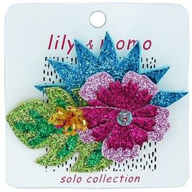 Lily and Momo Lily and Momo:Hawaiian Flower Hair Clip Glitter Multi