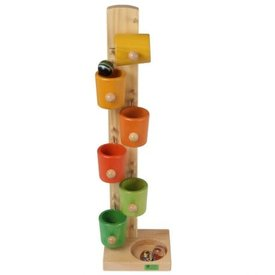 Beck-Spielwaren Beck-Spielwaren: Kullerbecher bunt - Auto (natural)