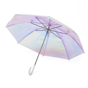 FCTRY FCTRY: Holographic Umbrella Adult White Handle