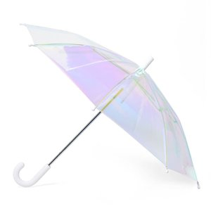 FCTRY FCTRY: Holographic Umbrella Kids White Handle