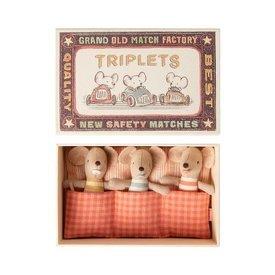Maileg Maileg: Baby Triplet Mice in Matchbox