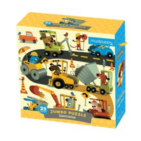Mudpuppy Mudpuppy: Jumbo Puzzle - Construction