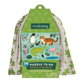 Mudpuppy Mudpuppy: Animals of The World To Go Puzzle