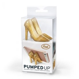 Fred's Fred's:Pumped Up- Phone Stand Gold Glitter