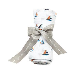 Angel Dear Angel Dear: Sail Boats Swaddle Blanket