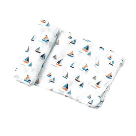 Angel Dear Angel Dear: Sail Boats Swaddle Blanket
