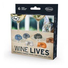 Fred's Fred's: Wine Lives - Kitty Wine Markers