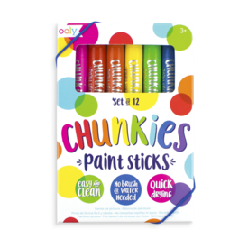 Ooly Ooly: Chunkies Paint Sticks - 12pk