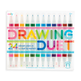 Ooly Ooly: Drawing Duet Double-Ended Markers (Set of 12 / 24 Colors)