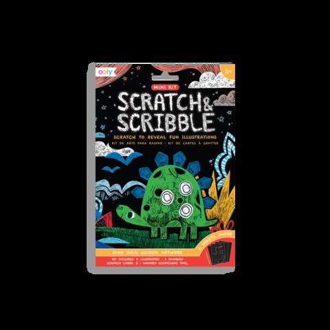 Ooly: Mini Scratch & Scribble Art Kit: Dino Days