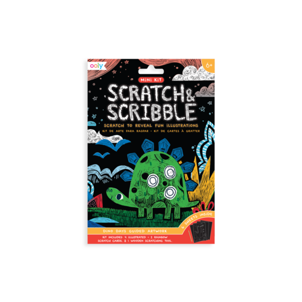 Ooly Ooly: Mini Scratch & Scribble Art Kit: Dino Days