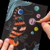 Ooly: Mini Scratch & Scribble Art Kit: Friendly Fish