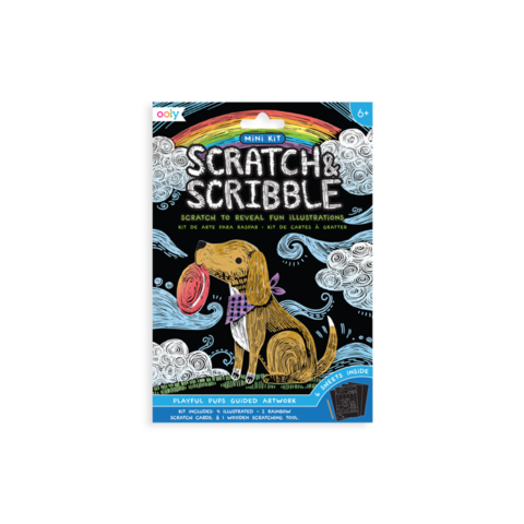 Ooly: Mini Scratch & Scribble Art Kit: Playful Pups