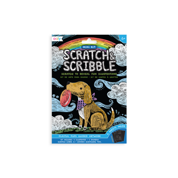 Ooly Ooly: Mini Scratch & Scribble Art Kit: Playful Pups