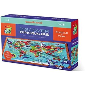 Crocodile Creek Crocodile Creek: Discover Puzzle/Dinosaur World 100 PC