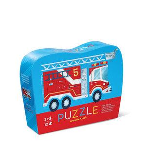 Crocodile Creek Crocodile Creek: 12 pc Mini Puzzle- Fire Truck
