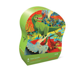 Crocodile Creek Crocodile Creek: 36 pc Shaped Puzzle/Land of Dinosaur