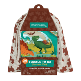 Mudpuppy Mudpuppy: Dino Park To Go Puzzle